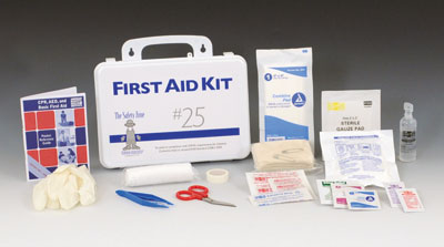 Safety Zone Plastic First Aid Kit - 25 Person