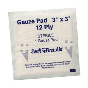 "3"" x 3"" First Aid Sterile Gauze Pads"
