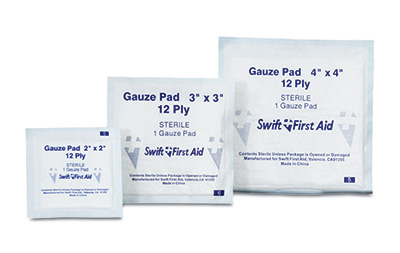 """2"""" x 2"""" First Aid Sterile Gauze Pads"""