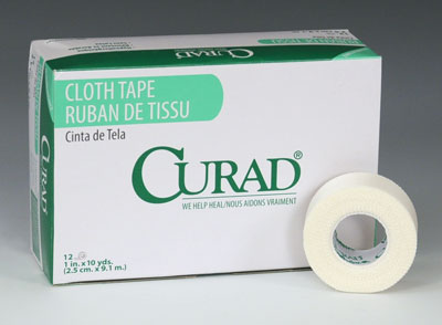 "1"" x 360"" Curad® Latex-Free Water Repellent Cloth/Silk Tape"