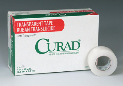"""1"""" x 360"""" Curad® Latex-Free Breathable Transparent Tape"""
