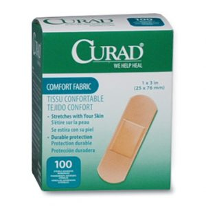 "1"" x 3"" Curad® Comfort Fabric Strip Bandages"