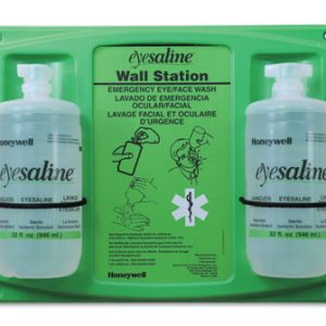 Fend-All® Dual Bottle Sterile Saline Eyewash Wall Stations (Two 32 oz. Bottles)