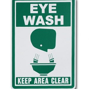 "7"" x 10"" Adhesive Vinyl Eye Wash Sign (4 mil)"