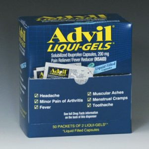 Advil® Ibuprofen Liqui-Gel Capsules in a Dispenser Box (200 mg)