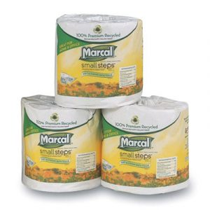 Marcal Small Steps Bathroom Tissue - Individually Wrapped (2-Ply) 336 Sheets per Roll (48 Rolls) - AB-310-1-07