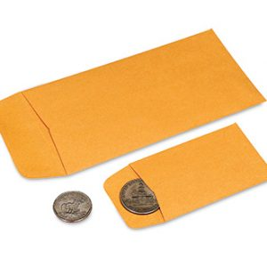 "2-1/4"" x 3-1/2"" Small Kraft Coin Envelopes (28 lb.) (500 Envelopes)"