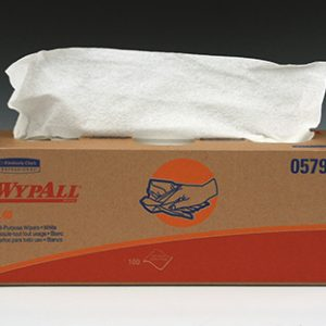 "16"" x 10"" Kimberly-Clark® WypAll® L40 Light-Duty Wipers - Pop-Up Dispenser Box"