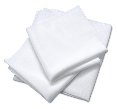 """9"""" x 9"""" Class 10 Clean Room Wipers - Polyester Knit"""