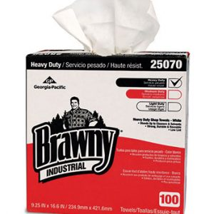 "9-1/4"" x 16-5/8"" Brawny® Heavy-Duty Shop Towels in a Dispenser Box"