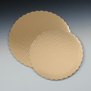 "10"" Round Bakery Pad - Gold"