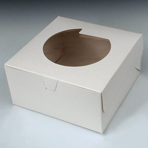 "10"" x 10"" x 5"" Bakery Box - With Window"