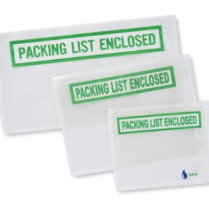 "4-1/2"" x 5-1/2"" Eco Friendly Back-Loading Printed Packing List Envelope - ""Packing List Enclosed"""