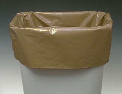 "12"" x 8"" x 21"" Low Density Gusseted Poly Liner - Buff (1 mil)"