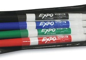 Expo® Low Odor Fine Tip Dry Erase Markers - Assorted Colors (4 Pack)