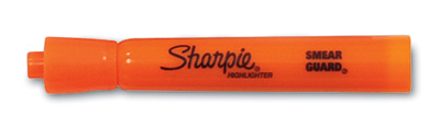 Sharpie® Accent® Tank Style Highlighter with Chisel Tip - Fluorescent Orange