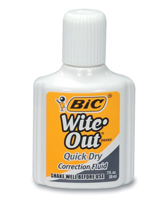 Bic® Wite-Out® Quick Dry Fluid with Foam Applicator (3-Pack)
