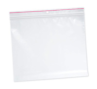 "10"" x 12"" Minigrip® Red Line™ Double Zipper Bag with Hang Hole (4 mil)"