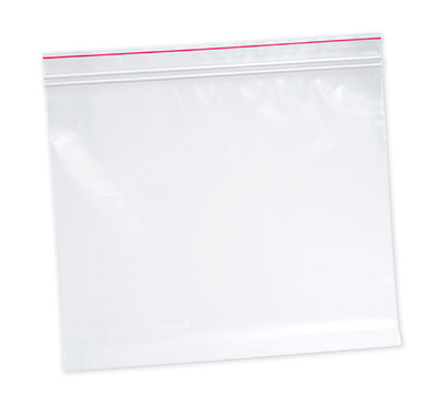 """10"""" x 12"""" Minigrip® Red Line™ Double Zipper Bag without Hang Hole (2 mil)"""