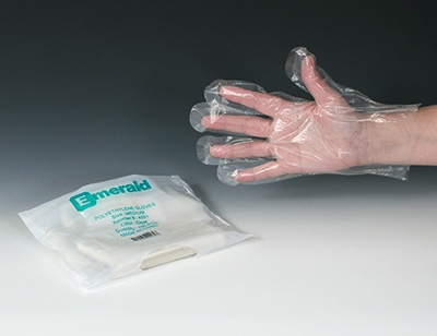 """11"""" Our Own Brand Poly Gloves - One Size Fits Most (.75 mil)"""