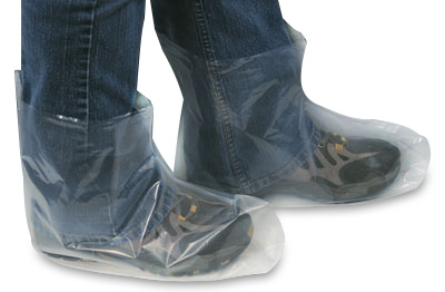 Fluid Impervious Poly Boot Covers - X-Large (3 mil)