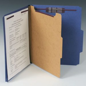 Smead Heavy Duty Partition Folder with 4 Fasteners - 25 PT. (Legal Size) - Blue