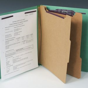 Smead Heavy Duty Partition Folder with 6 Fasteners - 25 PT. (Letter Size) - Green