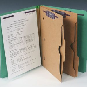 Smead Heavy Duty Partition Folder with 2 Pocket Dividers and 6 Fasteners - 25 PT. (Letter Size) - Green
