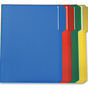 Smead Poly File Folders - 1/3 Tab (Letter Size) - Assorted Colors
