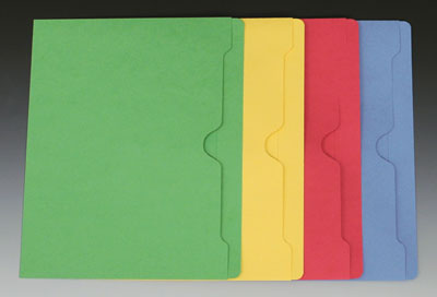 Smead Flat File Jacket with Full Cut Double Top Tab - 11 PT. (Letter Size) - Assorted Colors