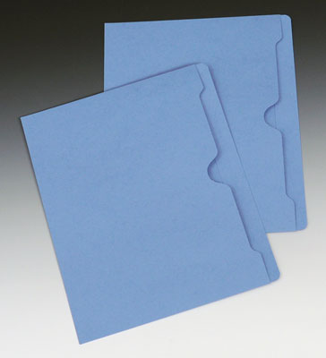 Smead Flat File Jacket with Full Cut Double Top Tab - 11 PT. (Letter Size) - Blue