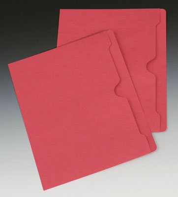 Smead Flat File Jacket with Full Cut Double Top Tab - 11 PT. (Letter Size) - Red