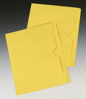 Smead Flat File Jacket with Full Cut Double Top Tab - 11 PT. (Letter Size) - Yellow