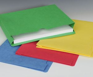 "Smead File Jacket with Full Cut Double Top Tab and 2"" Expansion - 11 PT. (Letter Size) - Assorted Colors"