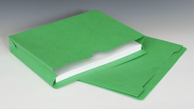 """Smead File Jacket with Full Cut Double Top Tab and 2"""" Expansion - 11 PT. (Letter Size) - Green"""