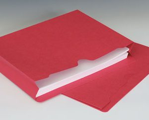 "Smead File Jacket with Full Cut Double Top Tab and 2"" Expansion - 11 PT. (Letter Size) - Red"