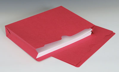 """Smead File Jacket with Full Cut Double Top Tab and 2"""" Expansion - 11 PT. (Letter Size) - Red"""