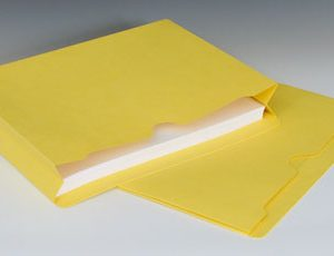 "Smead File Jacket with Full Cut Double Top Tab and 2"" Expansion - 11 PT. (Letter Size) - Yellow"