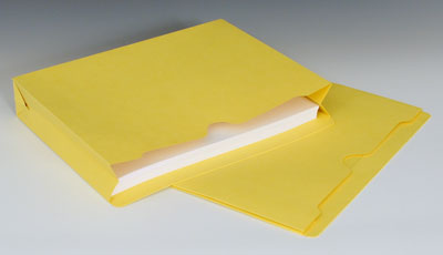 """Smead File Jacket with Full Cut Double Top Tab and 2"""" Expansion - 11 PT. (Letter Size) - Yellow"""