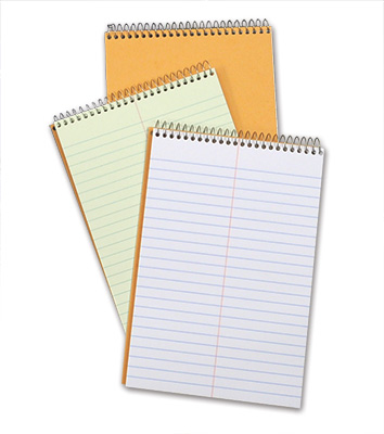 "6"" x 9"" Ampad® Steno Notebook - 80 Sheets Gregg Ruled (Green Paper)"