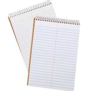 "6"" x 9"" Ampad® Steno Notebook - 60 Sheets Gregg Ruled (White Paper)"