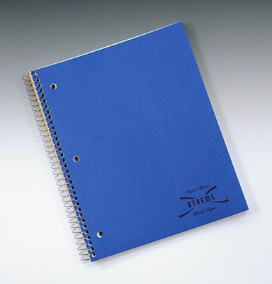 "8-1/2"" x 11"" 3-Subject Wirebound Notebook - 150 Sheets College Ruled"