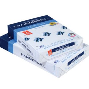 """8-1/2"""" x 11"""" Hammermill® Copy Plus  3-Hole Punched Copy Paper - Bright 92 - (20 LB.) - Ream"""