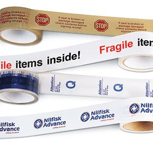 "2"" x 165' Custom Printed Polypropylene Tape - Clear (2 mil) - 36 Rolls per Carton"