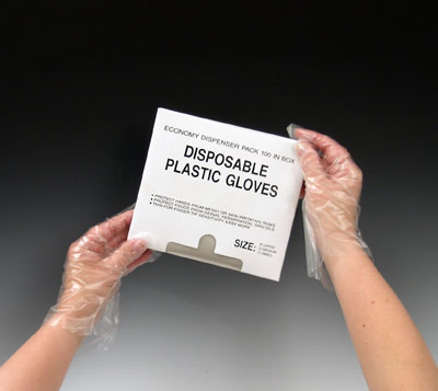 """11"""" Poly Gloves - Large (1 mil)"""
