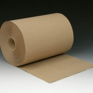 """8"""" x 350' Hardwound Embossed Paper Towels on a Roll - Brown"""