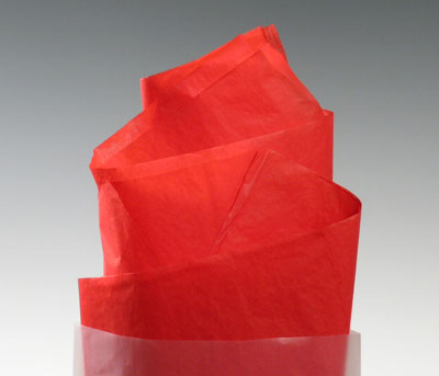 "20"" x 30"" Gift Grade Tissue Paper Sheets - Scarlet (10 lb.)"