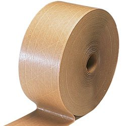 "3"" x 450' Kraft Reinforced Water Activated Tape (10 Rolls) - Miller-66301"