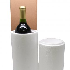 1 Bottle Styrofoam Wine Shipping Cooler and Box (1 Set)
