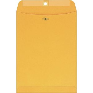 "10 x 13"" Large Manila Clasp Envelope - Quality Park - (100 Envelopes)"